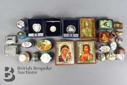 Collection of Fifteen Enamel and Other Pill Boxes