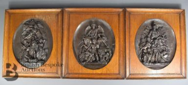 Three French Oval Plaques
