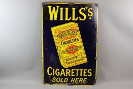 Wills Cigarette Enamel Sign