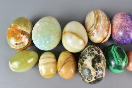 Large Quantity of Hardstone Eggs