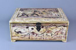 An Indian Camel Bone Box