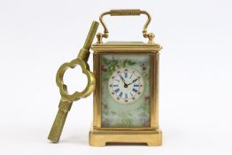 Brass Cased Miniature Carriage Clock