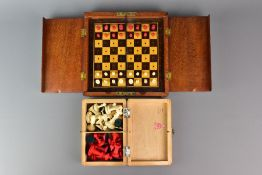Edwardian Bone Travelling Chess Set