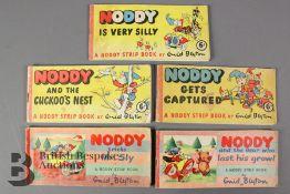 Five Mid-20th Century Noddy Strip Books