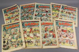 Nine Dandy Comics 1946-47