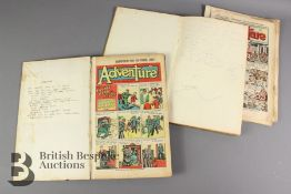 Two Bound Volumes of Adventure Comic 1947 and 1949