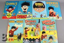 Seven Dennis the Menace Annuals Years 1962-1978