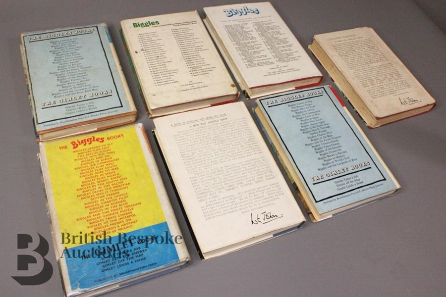 Seven Captain W. Johns Biggles 1st Edition in Dust Jackets - Image 7 of 9