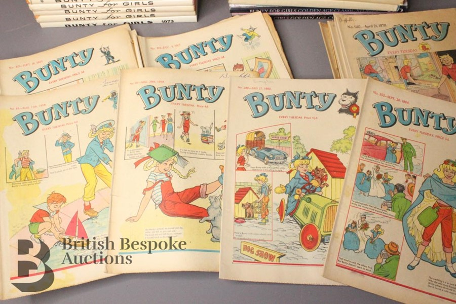 Thirty Eight Bunty Comics 1959-1979 and Eight Bunty Annuals in Dust Jackets - Image 2 of 5