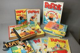 Vintage Popeye Annuals plus 10 Others 1935 Onwards