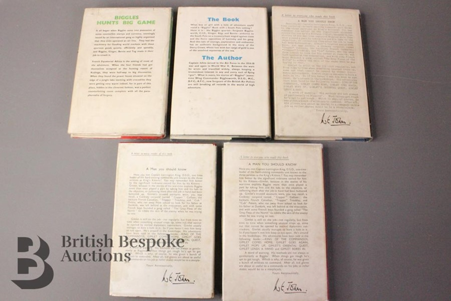 Five W.E Johns Biggles First Editions in Dust Jackets - Image 2 of 8
