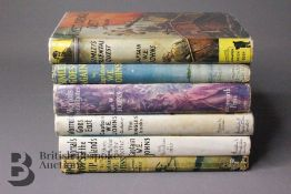 Six Captain W Johns 1st Edition Books with Dust Jackets