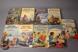 Nine Enid Blyton Famous Five 1st Editions