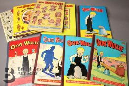 Fourteen Broons and Oor Wullie Annuals