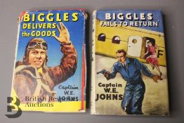 Two Captain W. Johns Biggles Wartime 1st Editions in Dust Jackets
