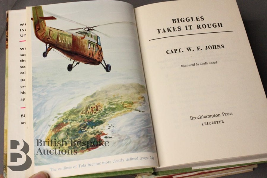 Three Captain Johns Biggles 1st Edition in Dust Jackets - Image 10 of 11