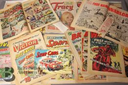 Sixteen 1960 and 1970's Comics with Free Gifts