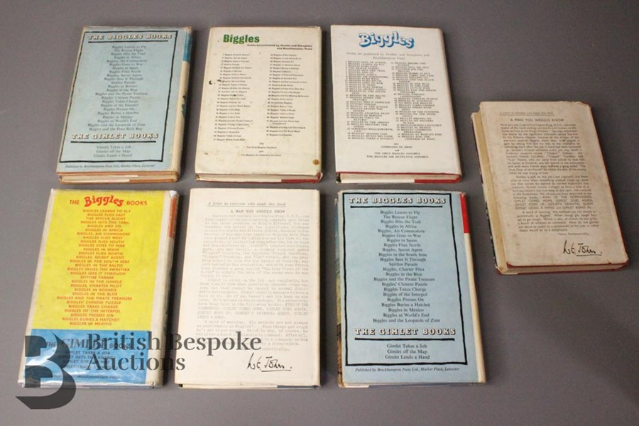 Seven Captain W. Johns Biggles 1st Edition in Dust Jackets - Image 6 of 9