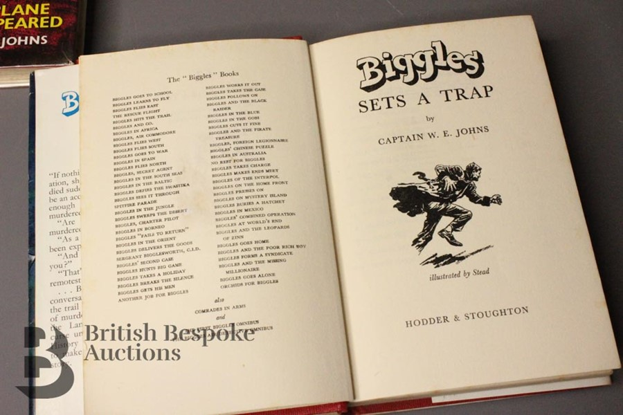 Captain W Johns Two Biggles 1st Edition - Image 10 of 11