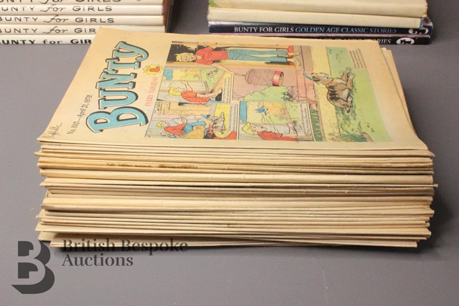 Thirty Eight Bunty Comics 1959-1979 and Eight Bunty Annuals in Dust Jackets - Image 4 of 5