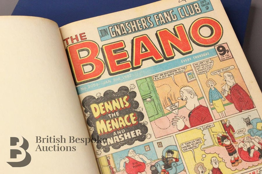 1982 Beano Bound Comics - Image 2 of 4