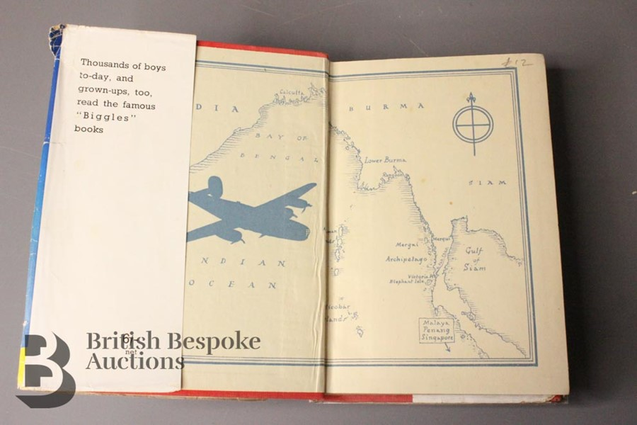 Two Captain W. Johns Biggles Wartime 1st Editions in Dust Jackets - Image 6 of 9