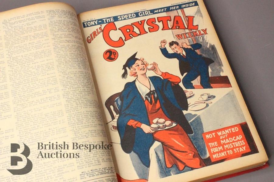 One Bound Volume Girls Crystal 1936 - Image 4 of 5