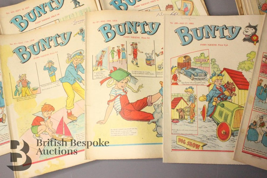 Thirty Eight Bunty Comics 1959-1979 and Eight Bunty Annuals in Dust Jackets - Image 3 of 5