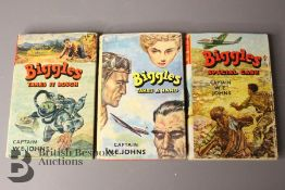 Three Captain Johns Biggles 1st Edition in Dust Jackets