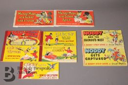 Five Enid Blyton Clicky Strip Books and Four Other Strip Books