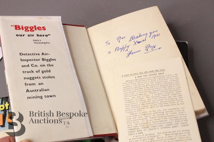Five W.E Johns Biggles First Editions in Dust Jackets - Image 7 of 8