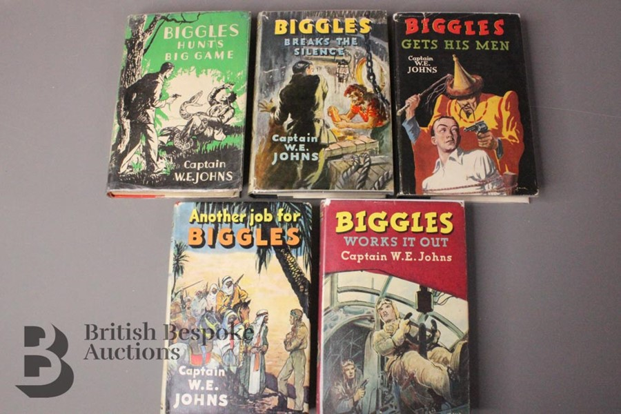 Five W.E Johns Biggles First Editions in Dust Jackets