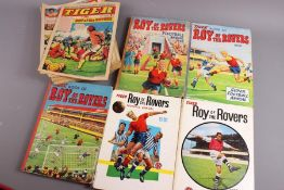 Tiger Comics from 1973 and Roy of the Rovers Annuals 1958 to 1988