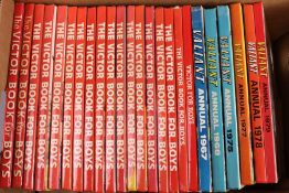 Approx. 52 Boys Annuals; Hotspur, Valiant, Victor and Tiger - 1960 and 1970s