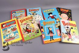 32 Beano, Dandy and Dennis The Menace Annuals from 1952 Onwards