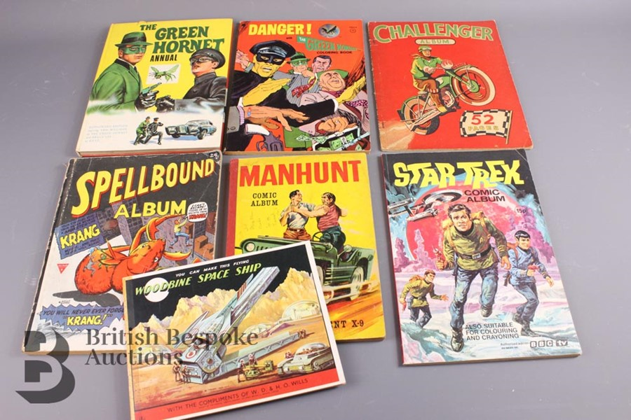 The Green Hornet Colouring Book, Woodbine Space Ship Cut Out and Other Comic Albums