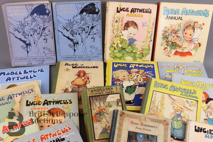 17 Mabel Lucie Attwell Annuals from 1936 and Books - Image 11 of 18