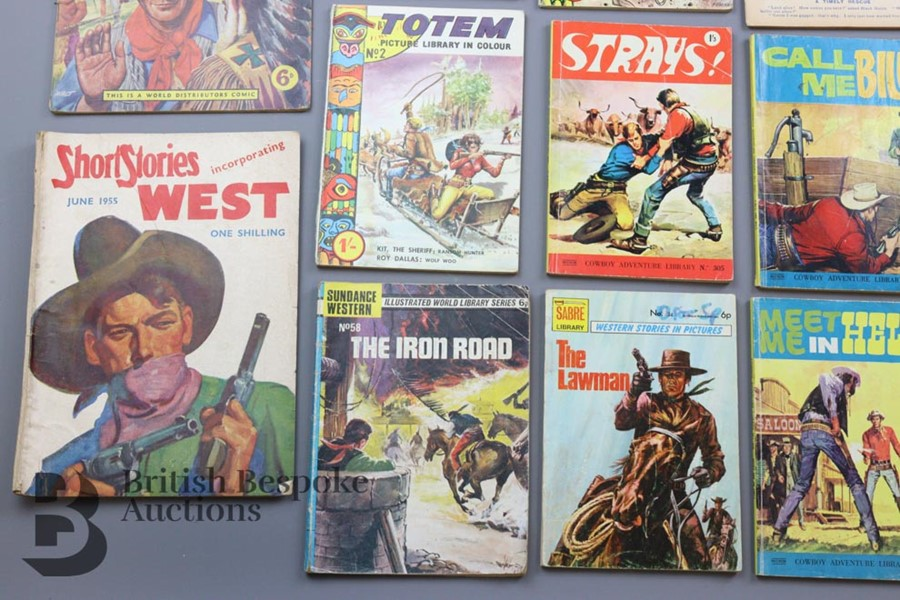 Approx. 65 Vintage Western Comic Books from 1940 and 1950 - Image 7 of 8