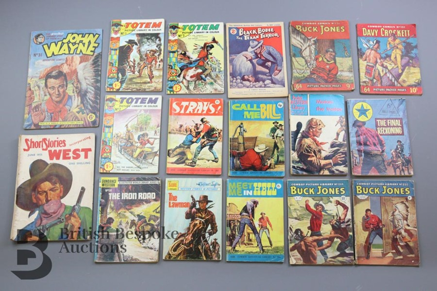 Approx. 65 Vintage Western Comic Books from 1940 and 1950 - Image 4 of 8