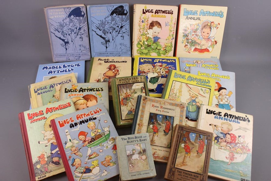 17 Mabel Lucie Attwell Annuals from 1936 and Books