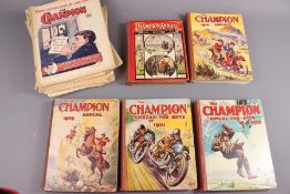 21 Champion Annuals and 57 Champion Comics 1925 - 1968