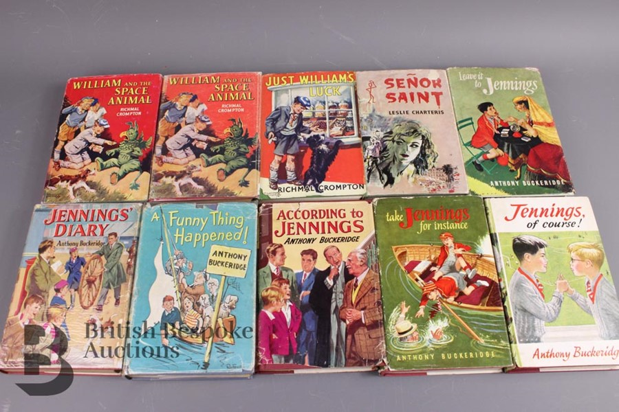 10 First Edition Jennings, Just William and The Saint Books in Dust Jackets - Image 2 of 3