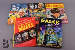 The Dalek Book 1964, Paint and Draw The Film 1965, Dr Who Annuals 1965, 1966 and 1967