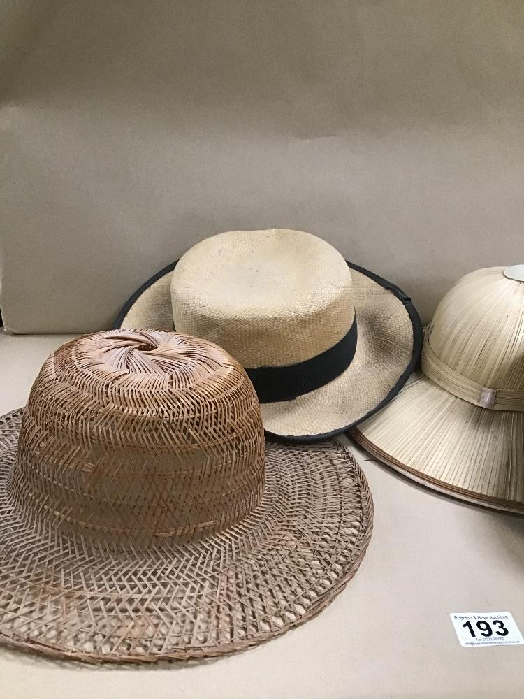 STRAW HATS INCLUDING PIF HAT AND A FEZ - Image 3 of 3