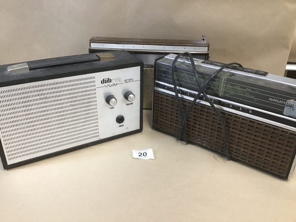 Lot 20 - THREE RETRO RADIO'S, INCLUDING GRUNDIG, MASTER RADIO ETC