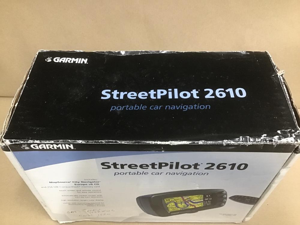 Lot 6 - A GERMAN STREETPILOT 2610 SAT NAV IN ORIGINAL BOX