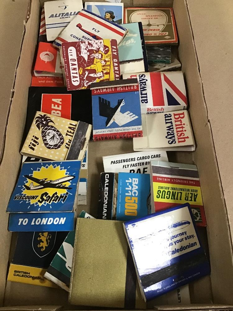 Lot 31 - A QUANTITY OF AVIATION MATCHBOOKS, INCLUDING BEA, BRITISH CALEDONIAN, AER LINGUS AND MORE