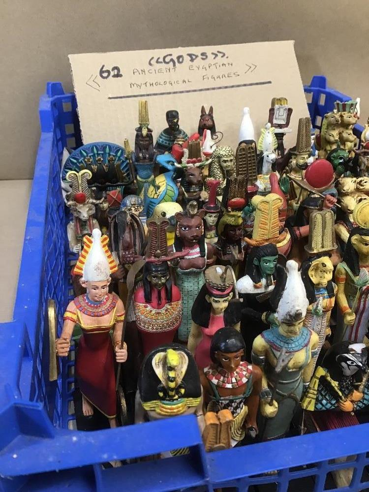 Lot 19 - A COLLECTION OF ANCIENT EGYPTIAN STYLE MYTHOLOGICAL FIGURES, APPROX 62 IN TOTAL (SOME AF)
