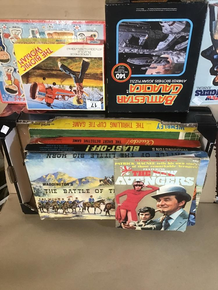 Lot 17 - AN ASSORTMENT OF BOARD GAMES, INCLUDING CLUEDO WEMBLEY AND MORE