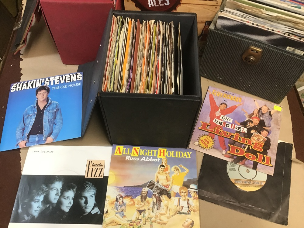 Lot 16 - FOUR BOXES OF ASSORTED 45'S SINGLES VINYL RECORDS